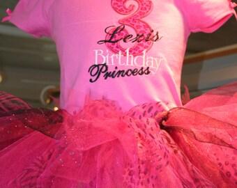 3rd  birthday princess with name tutu set