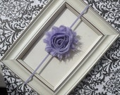 Light Purple Shabby Chic Headband