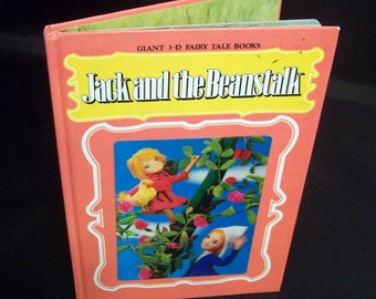 Vintage Children's 3D Book - Jack and the Beanstalk - 1960s 1970s