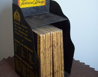 1940s car automobile Thompson Technical Library 27 manuals complete set 1939 to 1948 original display case gear head Free shipping to USA