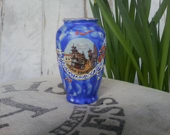 Vintage Asian San Fransisco Decorative Vase - Vintage Urn Flower Holder From California, On SALE, Mid Century Souvenir, OOAK California Vase
