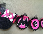 Minnie Mouse Name Banner Photo Prop Birthday Decoration