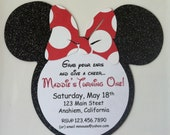 Minnie Mouse Inspired Custom Birthday Invitations Baby Shower Announcements