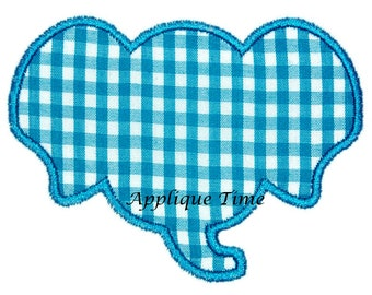 Instant Download Elephant Frame Machine Embroidery Applique Design 4x4, 5x7 and 6x10
