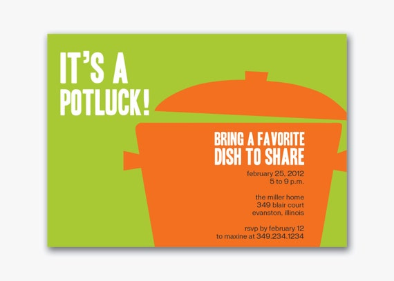 Potluck+Invitation+Template Unavailable Listing on Etsy