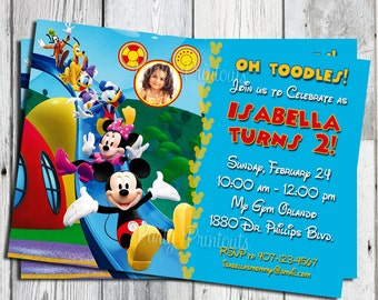 Mickey Mouse Birthday Invitation: Printable Boy or Girl Custom Invite, YOU PRINT. Matching Party Printables, other Invitations Available
