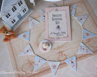 Sweet Bunting Kit for Dollhouse