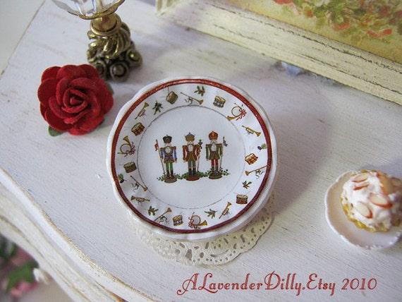 Nutcracker Plate for Dollhouse