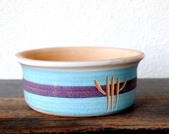 Vintage Southwestern Pottery California Planter Pot, Mid Century LEE'S Paramount Purple Blue Terracotta No 60