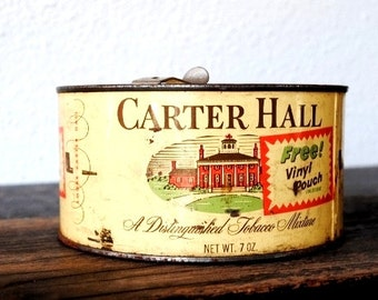 Old Tobacco Tin, Industrial Metal Americiana Plantation House Winston Salem NC, Vintage Man Cave Collectible