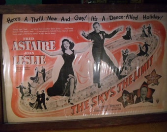 1940s Ad For the Movie The Skys the Limit Staring Fred Astaire and Joan Leslie