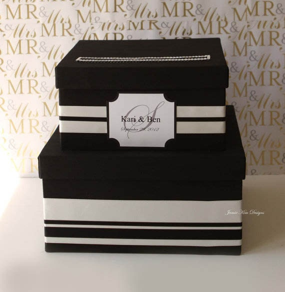 Wedding Gift Box Etsy : Wedding Card Box Gift Card Box Money Holder Choose your own