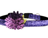 "Purple Dog Collar 5/8"" Flower Dog Collar"