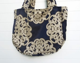 Bohemian Gypsy Bag Purse Blue and Ivory Medallion