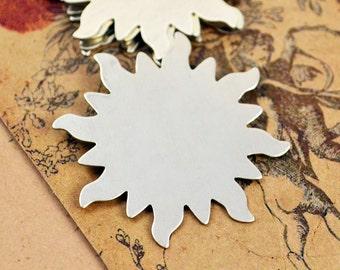6 Dancing Sun Blank - German Silver - Stamping Blanks
