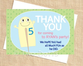 Printable DIY Popsicle Ice cream  at the Park Boy or Girl Thank You matching PDF file
