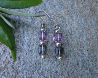 Elegant Swarovski Crystal and Sterling Earrings