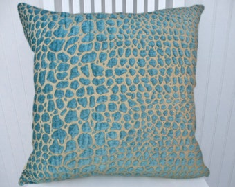 Velvet Turquoise Decorative Pillow Cover--CUSTOM SIZES AVAILABLE-- Throw Pillow--Turquoise Velvet