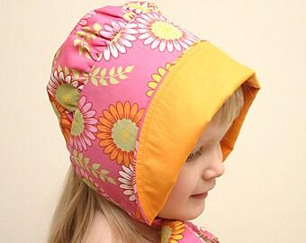 Baby sun hat bonnet Pink floral Bonnet Babies/Infant