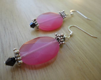 Colorful Glass and Crystal Earrings