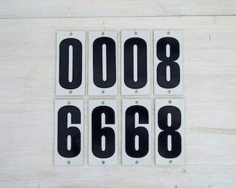 vintage number stickers
