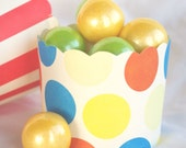 PRiMaRY DoT--Nut/Candy/Baking Cups-LarGE-20ct--Parties--cupcakes-gumballs-snacks