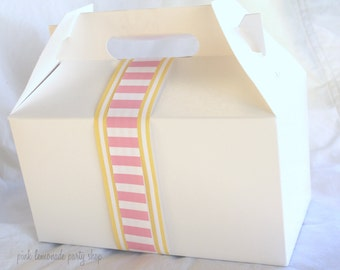 10White LarGe GaBLe BoXeS-9x5x5-nches-Party Favors-Wedding Favors-Gift Wrapping--Crafts-