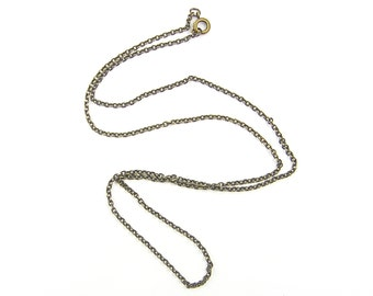 Brass Necklace Chain - Brass Chain 24 Inch Small Link Cable Necklace |CH1-AB24
