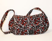 Reserved listing - Black and Red Half-Moon Handbag
