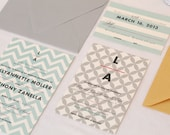 Chevron Pattern Wedding Invitation Set