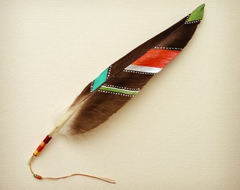 Painted Feather Photography // 6x6 // bird, nature, wildlife, spiritual, symbols, tribal, painted