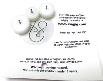 WIGJIG Large Round Super Pegs. Wigjig Peg Set. Centaur, Delphi, Cyclops. Three (3) Pegs