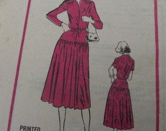 Original Vintage 70s Mail Order Pattern M285 Drop Waist Dress by Prominent Designer, Carillon