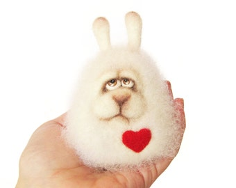 Felt doll - Handmade toys - Needle felting - Felt toys - Figurines - Eco friendly - Wedding gift - Gifts for her - gifts for men