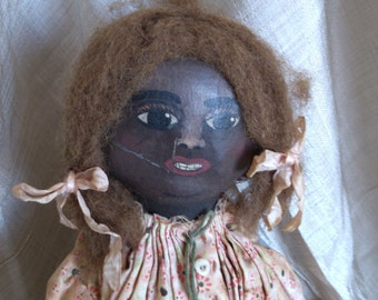 Thea Louise Hand Made Folk Art Doll One of Kind