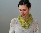 Crochet Ruffled Scarf - PDF PATTERN