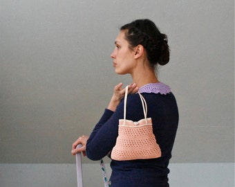 Crochet Petite Peach Purse  - PDF PATTERN