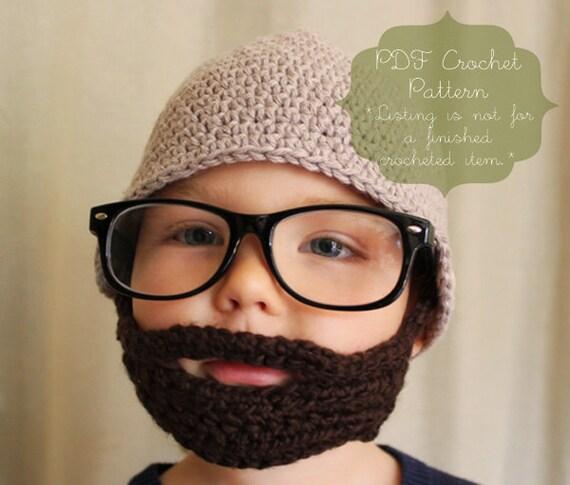 Crochet Pattern: The Sam Beard & Beanie-Four Sizes Included