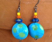 World earrings, globe blue earrings, graduation gift