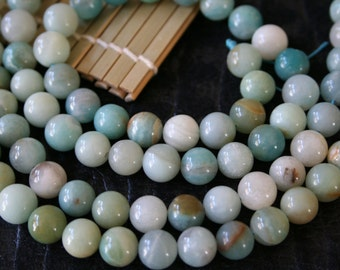 Natural Amazonite 10mm Round Beads, 16-Inch Strand G01159