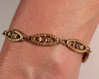 Antique Bracelet Gold Plated Bracelet Articulated Bracelet Classy Bracelet Edwardian French Jewelry