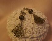 VTG Silver Filagree Dangle Clip Earrings