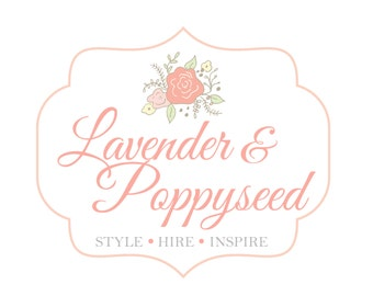 Premade Logo for Photographers and Small Crafty Boutiques Vintage Frame with Flowers