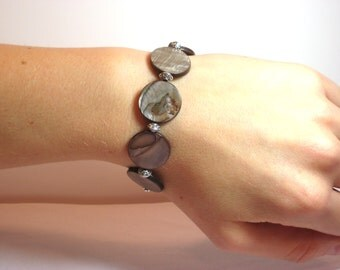 Coffee Bean - Interchangeable Beaded Watch Band