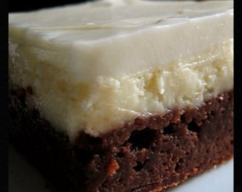 Kahlua Fudge Cheesecake Brownies Recipe~~~Instant Download