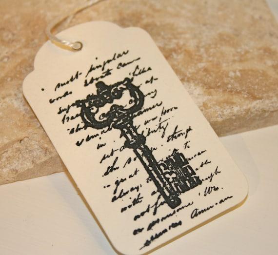 Vintage Wedding Gift Tags : Vintage key gift tag, Wedding favor tags, Wish tree tags, Wishing tree ...