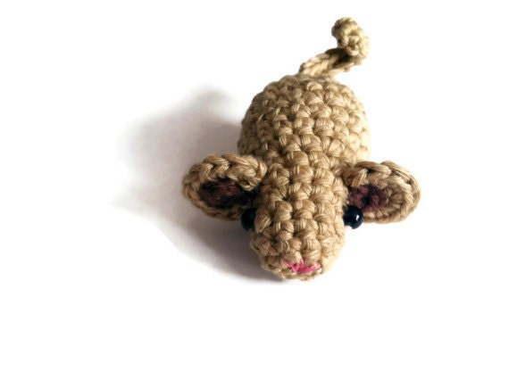 Little mouse, small mouse, mouse toy, amigurumi mouse, crocheted mouse
