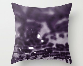 Purple Sparkle Abstraction Sofa Pillow, Aubergine Accent Pillow, Purple Throw Pillow Cover, 18x18 22x22 Decorative Pillow Cushion