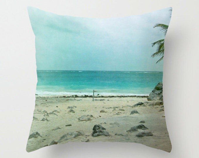 Beach and Ocean Photo Pillow Cover for Beach Decor 18x18 or 22x22 Beach and Ocean Photo Cushion Cover for Beach Decor