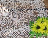 Plastic Lace Placemats 70s Daisy Garden Party Patio 23 available